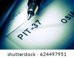 filling polish tax forms pit 37 | Shutterstock . vector #624497951