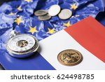 french financial  relations... | Shutterstock . vector #624498785