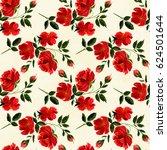 watercolor. flowers on a... | Shutterstock . vector #624501644