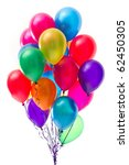 Multicolor Balloons On White...