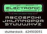 stencil plate sanserif font in... | Shutterstock .eps vector #624503051