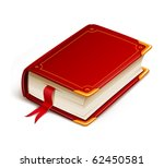 old book with bookmark vector... | Shutterstock .eps vector #62450581