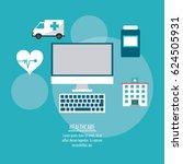 medical technology gadget... | Shutterstock .eps vector #624505931