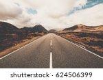 open road in glencoe  scotland. ... | Shutterstock . vector #624506399