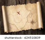 treasure map 3d illustration | Shutterstock . vector #624510839