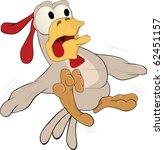 hen frightened | Shutterstock . vector #62451157