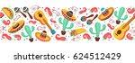cinco de mayo objects... | Shutterstock .eps vector #624512429