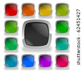 colorful glossy buttons | Shutterstock . vector #62451427