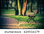 bench in the park | Shutterstock . vector #624516179