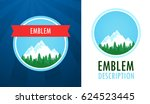 swiss alps logo  set of vector... | Shutterstock .eps vector #624523445