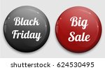 set of glossy sale buttons or... | Shutterstock .eps vector #624530495