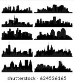 detailed vector silhouettes of...