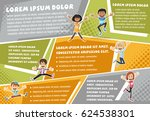 vector brochure backgrounds... | Shutterstock .eps vector #624538301