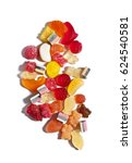 gummies candies on a white...   Shutterstock . vector #624540581