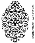 stylish swirl foliage design ... | Shutterstock .eps vector #624545921