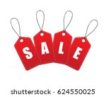 vector sale tags. labels | Shutterstock .eps vector #624550025