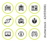 set round icons of electrical... | Shutterstock .eps vector #624554081