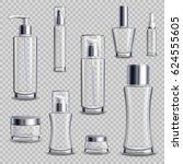 cosmetics skincare empty glass...   Shutterstock .eps vector #624555605