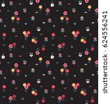 trendy seamless floral pattern... | Shutterstock .eps vector #624556241