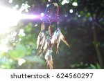 soft focus dream catcher with a ... | Shutterstock . vector #624560297
