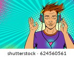 young sexy ginger comic man... | Shutterstock .eps vector #624560561