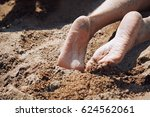legs of woman laying at the...   Shutterstock . vector #624562061
