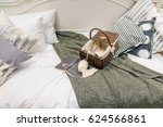 the modern fabric pillow with... | Shutterstock . vector #624566861