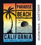 los angeles  california vector... | Shutterstock .eps vector #624574049