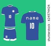 football uniform  t shirt ... | Shutterstock .eps vector #624574424