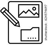 content vector icon   Shutterstock .eps vector #624574697