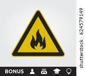 fire sign | Shutterstock .eps vector #624579149