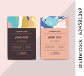 trendy abstract business card... | Shutterstock .eps vector #624581369