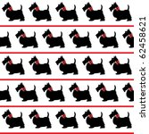 black scottie dogs with red... | Shutterstock . vector #62458621