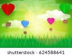 paper art design style house... | Shutterstock .eps vector #624588641