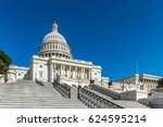 Stock photo steep set of stairs lead up to the united states capitol building in washington dc 624595214