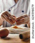 close up of female baker hands