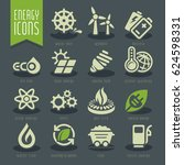 energy icon set. | Shutterstock .eps vector #624598331