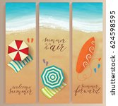 set of vector summer travel...   Shutterstock .eps vector #624598595