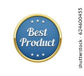 gold blue best product round... | Shutterstock .eps vector #624600455