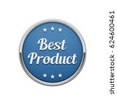 silver blue best product round... | Shutterstock .eps vector #624600461