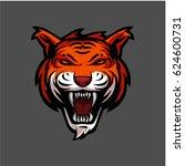 tiger head in vector stock... | Shutterstock .eps vector #624600731