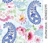 seamless bright pattern with... | Shutterstock . vector #624602195