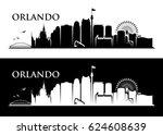 orlando skyline   florida  ... | Shutterstock .eps vector #624608639