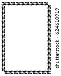 black and white abstract... | Shutterstock .eps vector #624610919
