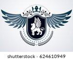 vintage heraldry design... | Shutterstock . vector #624610949
