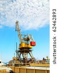 sea platform with the crane for ... | Shutterstock . vector #62462893
