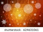 light orange vector christmas... | Shutterstock .eps vector #624631061