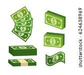 green bill dolar money | Shutterstock .eps vector #624638969