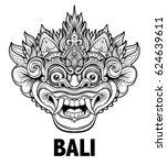 barong. traditional ritual... | Shutterstock .eps vector #624639611