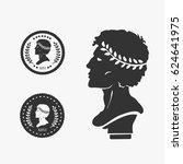 Greek Profile Coin Vector...